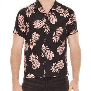 Sandro Slim Fit Pineapple shirt